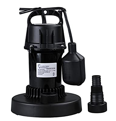 Lanchez Multi-Purpose Automatic Thermoplastic Submersible Utility Water Pump with Float Switch for Quick Water Draining Large Flow Sump Pump