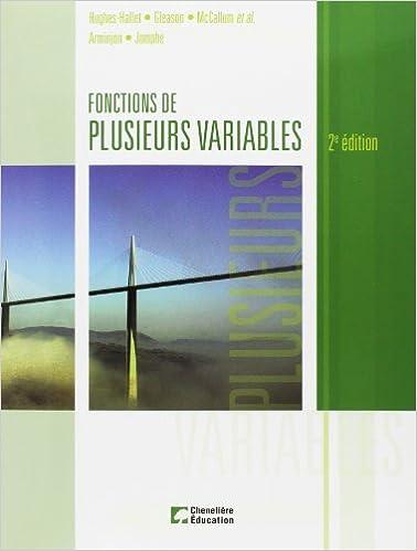 Livre gratuits Fonctions de plusieurs variables pdf epub