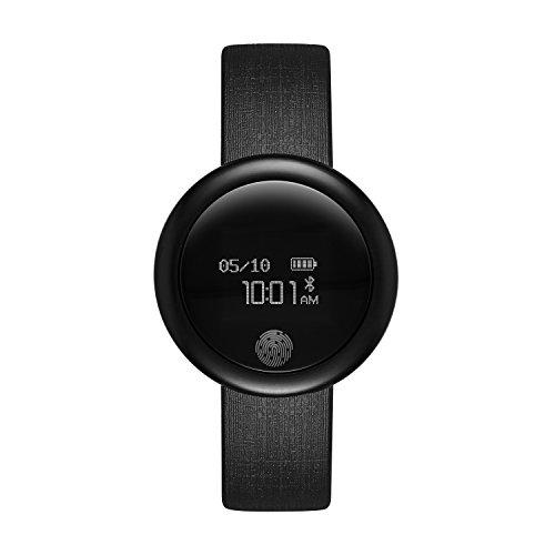 and Rubber Smartwatch, Color: Black (Model: FMDEM003) ()