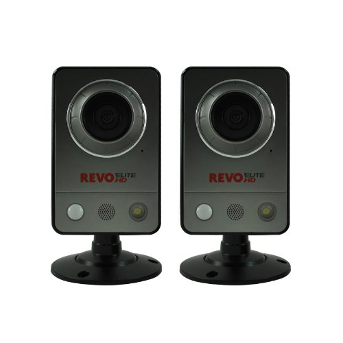 REVO America REHCUW-1BNDL Elite HD Wireless/Wired Indoor IP Cube Camera, 2-Pack (Grey) ()