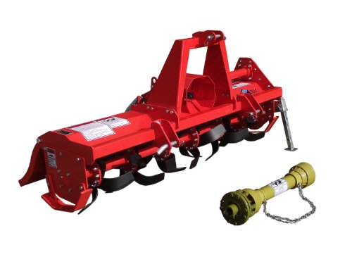 3pt Rotary Tiller Accubic#rta56, Cat1, 56in.working Width, Gear Drive, 36 Blades, Offset, Slip Clutch PTO by ACCUBIC (Image #3)