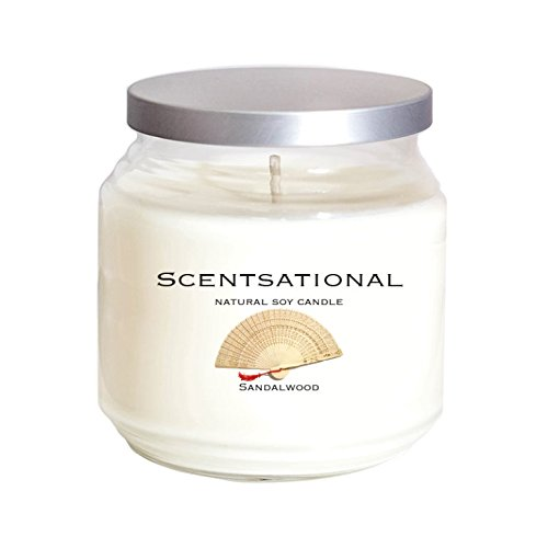 Highly Scented Soy Candle (Scentsational Soaps & Candles Natural Soy Candle Sandalwood)