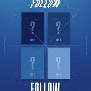 Monsta X 'Follow-Find You' 7th Mini Album Random Ver CD+1p Mini Poster On+72p PhotoBook+1p PhotoCard+32p Lyrics Book+1p PhotoStand+Pre-Order+Message PhotoCard SET+Tracking Kpop Sealed