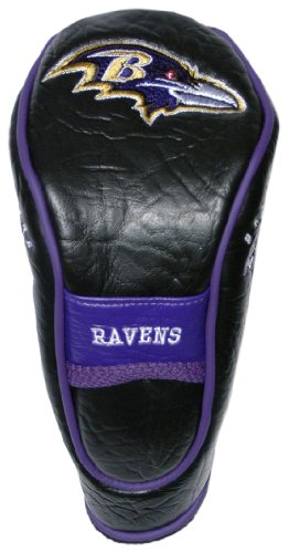 Team Golf NFL Baltimore Ravens Hybrid Golf Club Headcover, Velcro Closure, Velour lined for Extra Club Protection -