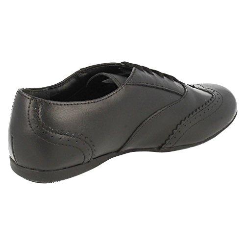 Clarks DanceHoney Schule für Mädchen Schuhe aus schwarzem Leder Black Leather 13½ G