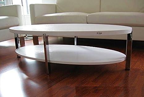 Design Couchtisch Tisch O 111 Weiss Oval Carl Svensson Amazon De