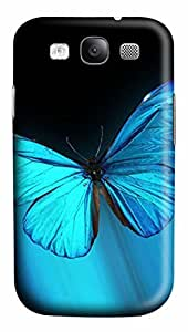 Blue Butterfly Animal PC Case Cover for Samsung Galaxy S3 I9300
