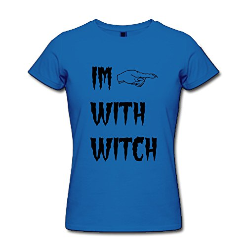 KEMING Women's Witch Hand T-shirt (Kevin And Frankie Halloween)