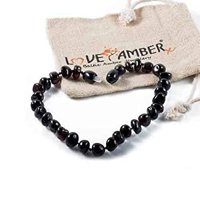 Genuine Child Blackforest Polished Cherry Baltic Amber Anklet Love Amber X Uk Fashion Jewelry