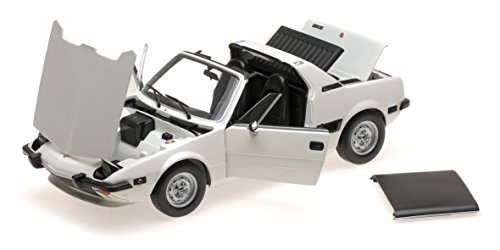 (1974 Fiat X1/9 White Limited Edition to 504 pieces Worldwide 1/18 Diecast Model Car by Minichamps)