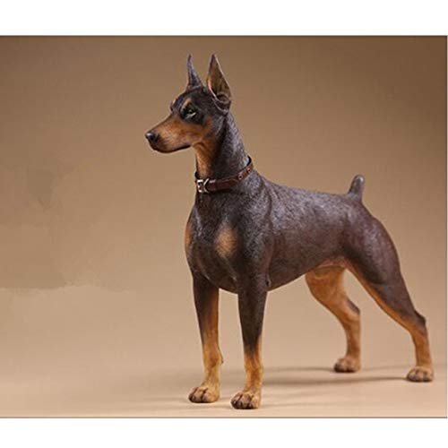 (ZAMTAC 1/6 Scale Doberman Pinscher Model Figurine Resin Animal Dog Model Collections Accessories Home DecorL3403 - (Color: Multi-Colored))