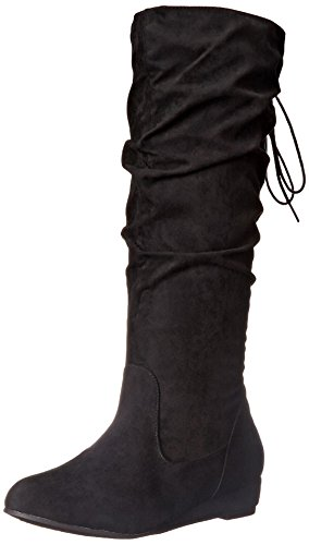 2 Lips Too Women's Too Scrunch Slouch Boot, Black, 7.5 M US