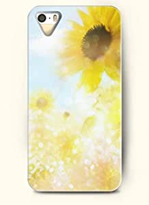 OOFIT phone case design with Sunflower in warm environment for Apple iPhone 4 4s
