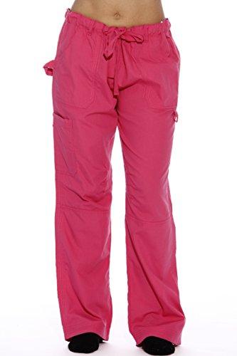 24000PFUS-28-1X Just Love Women's Utility Scrub Pants / Scrubs, Fuchsia Utility With Hearts, 1X 2 X Scrubs