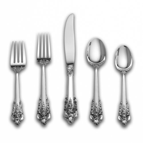 Wallace Grande Baroque 66-Piece Sterling Flatware Set (Place Size)