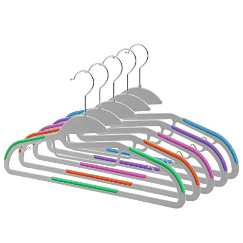 HIPPIH 30 Pack Clothes Hangers - Light-Weight Non-Slip Durable Plastic Hanger Perfect for Dress, Shirt,Jacket, Pants, and Underwear