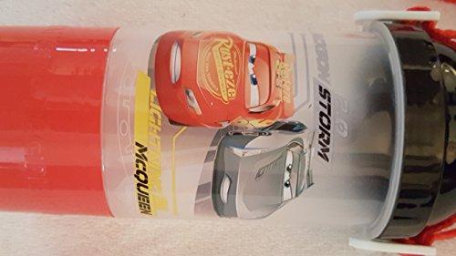 Disney Cars Lightning Mcqueen Rock N Sip N Snack Canteen Drinking cup bottle Red