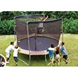 12' Trampoline Net attaches with Sleeves for 2 Arch Enclosures - Fits Bounce Pro / Sports Power (Net Only)