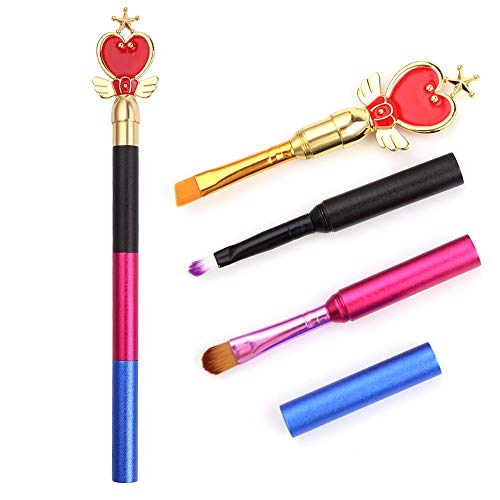 Florence_Xavia - Personalized Multi-Section Stitching Sailor Moon Anime Makeup Brushes Cute Cosmetic Eyeshadow Eyebrow Lipsticks Brush with Box