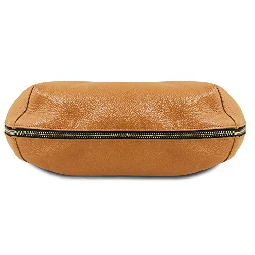 Compact Borsa Marrone Donna A Leather Tuscany Spalla Tl141683
