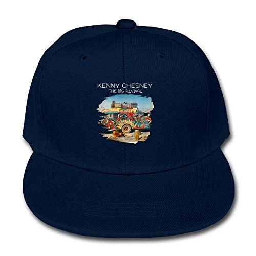 LWOSD Childs Baseball Cap, Kenny Chesney The Big Revival Plain Cotton Baseball Cap Sun Protect Ajustable Hats for Boys Girls Navy