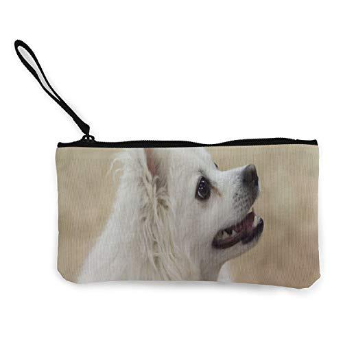 Xoxo Hobo Handbag - Coin Purse American Eskimo Dog Custom Girl Fastener Canvas Purse Wallet TravelTrendy Holder