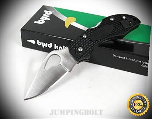 Byrd Black FRN Robin 2 Plain Knife BY10PBK2 - Premium Quality Very Sharp EMT EDC