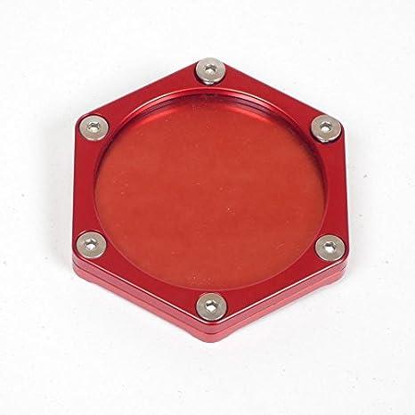Support de vignette Moto Hexagonal Alu Noir MAD 023356N