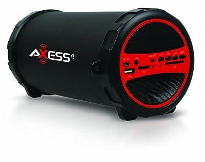 Axess Portable Bluetooth Indoor/Outdoor Cylinder Loud Speaker from OCZS0