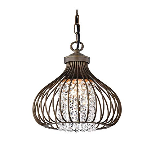 Windsor Home Deco WH-63339A Pendant Lamp, Modern Pendant Lighting for Kitchen Island with Metal Lamp Shades, Crystal Pendant Lighting