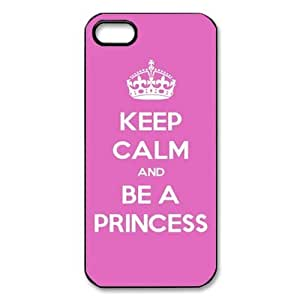 Custom Your Own Personalised Hard Keep Calm And Be A Princess iPhone 5 Cover, Snap On Keep Calm And Be A Princess iPhone 5 Case