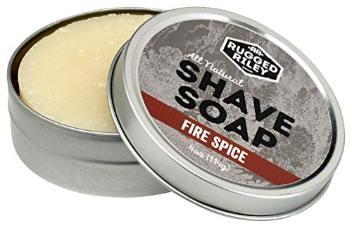 Rugged Riley All Natural Men's Fire Spice Shave Soap