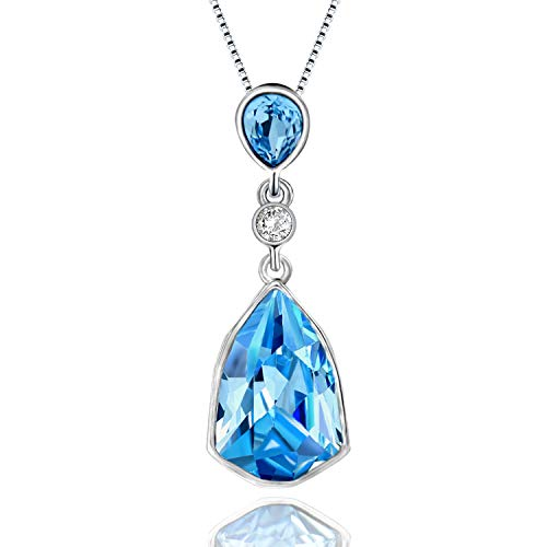 (ASHE Blue Y-Necklace Pendants Valentine's Day Jewelry for Girls Women Girlfriend Christmas Anniversary Birthday from Swarovski)