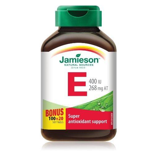 JamiesonVitamin E 400 IU . Bonus Size 100+20 Softgels - Super Antioxidant Support