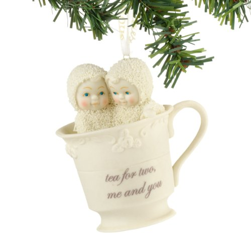 Department 56 Snowbabies Tea for Two Hanging Ornament, 2.25 inch