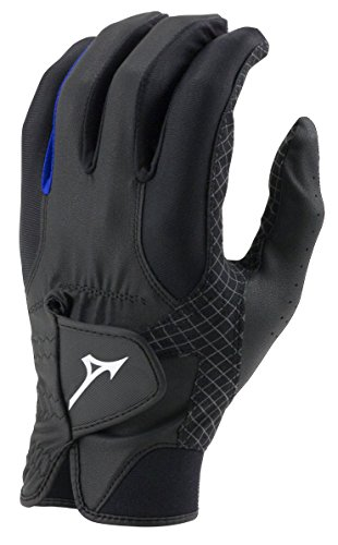 Mizuno 2018 RainFit Men's Golf Glove, Pair, Black/Royal, Medium