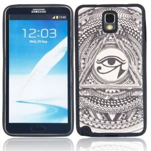 Plastic Protective Case with Eye Pattern for Samsung Note3