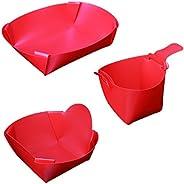 Portable Foldable Tableware Travel Kit 1050ml Plate & 650ml Bowl & 3