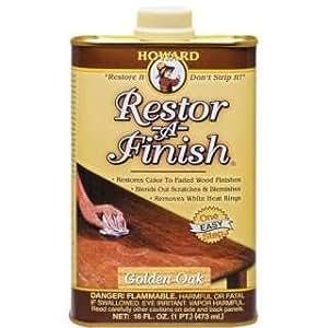 New Howard Restor-A-Finish Golden Oak Color Wood Furniture Finish Restorer 16oz
