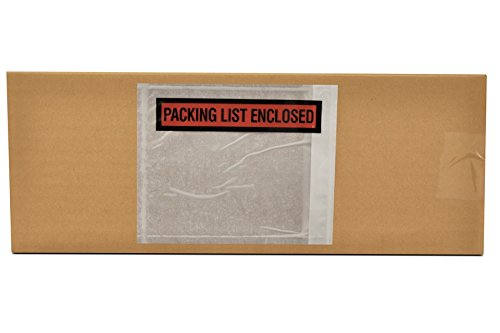 Packing List Enclosed Envelope Panel Face Back Side Load 4.5'' x 6'' 5000 Pieces by PackagingSuppliesByMail