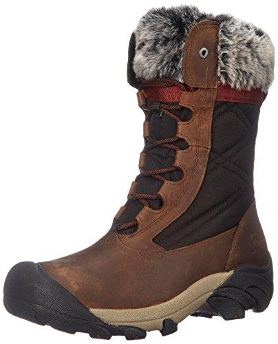 KEEN Women's Hoodoo III Winter Boot, Cascade Brown/Zinfandel, 7 M US