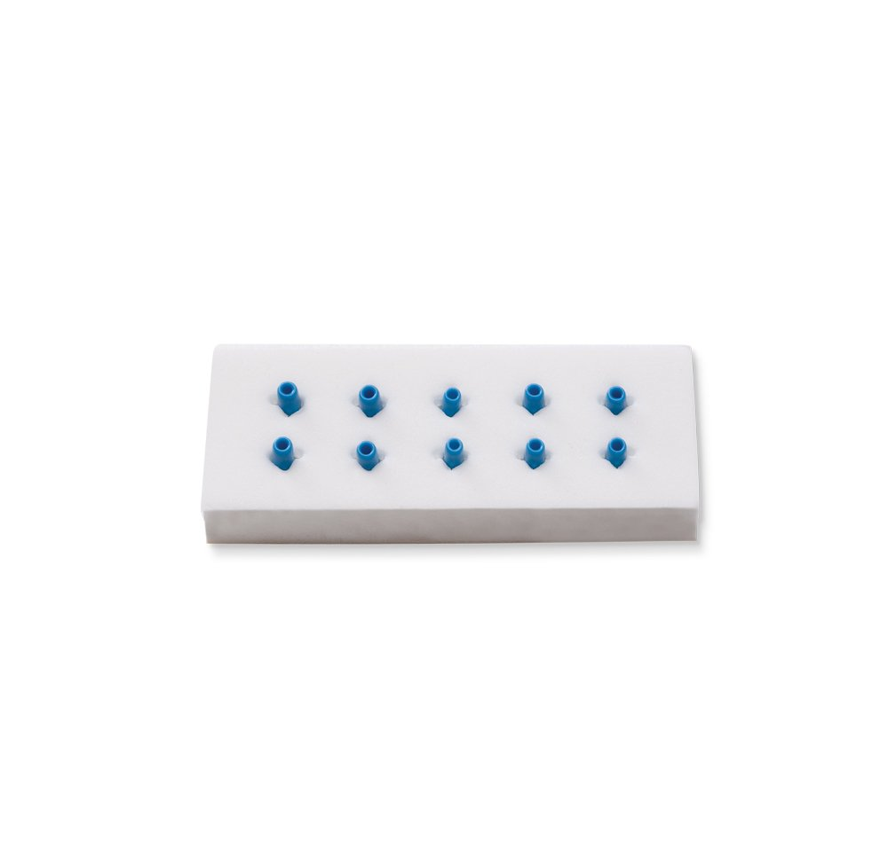Key Surgical VB-1110, Vascular Booties (Suture Aids), Non-sterile, Blue, Box of 5 Pads (5 Pairs of Booties Per Pad), .062'' x .437'' (Pack of 5)