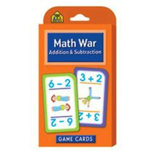 Game Cards-Math War: Addition & Subtraction 56/Pkg by SCHOOL ZONE PUBLISHING