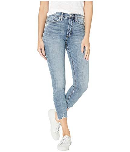 Silver Jeans Co. Women's Calley Mid Rise Skinny Crop, Medium Wash, 27W x 25L