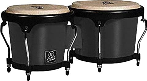 Latin Percussion LPA601F-BK LP Aspire Fiberglass Bongos - Black/Black (Lp Aspire Bongo Head)
