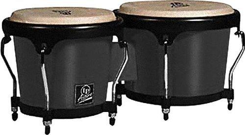 Latin Percussion LPA601F-BK LP Aspire Fiberglass Bongos - Black/Black by Latin Percussion