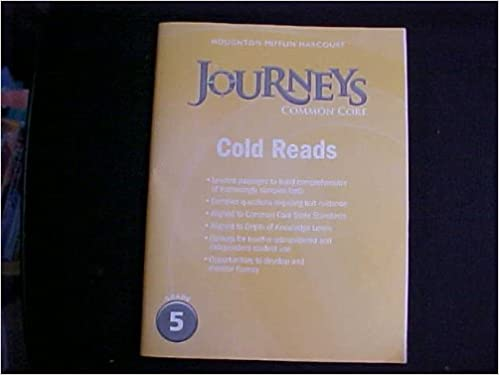 Amazon journeys cold reads grade 5 9780547893938 houghton journeys cold reads grade 5 1st edition by houghton mifflin harcourt fandeluxe Image collections