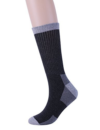 6 Pack Athletic Hiking Boot Work Socks for Men,Cotton Crew Socks with Cushion