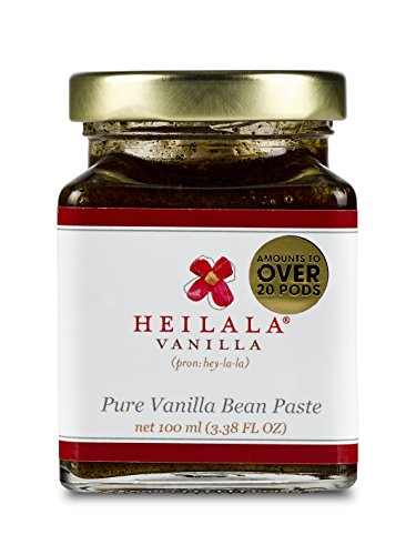 Pure Vanilla Bean Paste with Whole Seeds from Organically Grown Vanilla Beans 3.38 fl oz Glass Jar by Heilala