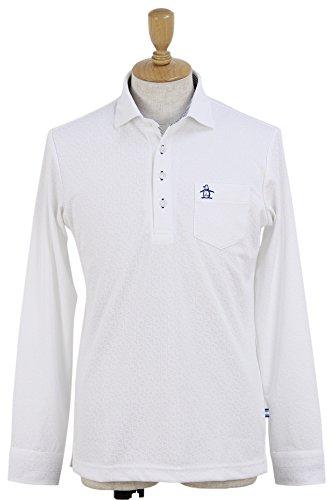 マニフェスト適切に素子ポロシャツ メンズ マンシングウェア Munsingwear 2018 春夏 ゴルフウェア M(M) ホワイト(WH00) mgmljb03